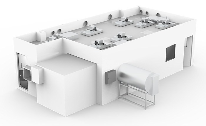 Render of GMP compliant cleanroom