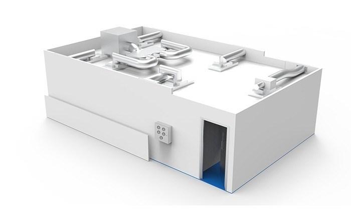 Monobloc-Reinraum für die Herstellung fester und flüssiger Medikamente