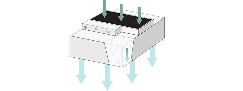 HEPA Fan Filter Unit Airflow Diagram