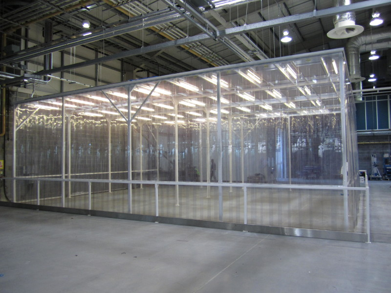 Large Scale Softwall Cleanroom